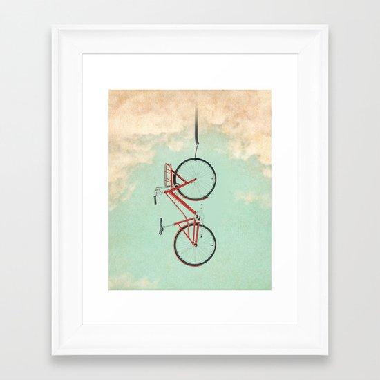 Bike Rack Framed Art Print