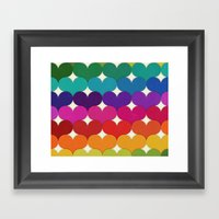 Rainbow Hearts Framed Art Print
