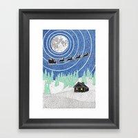 Nemo's Holiday Card 2012 Framed Art Print
