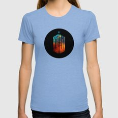 Doctor Who III Womens Fitted Tee Tri-Blue SMALL