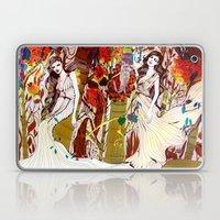 Fall Long Dresses  Laptop & iPad Skin