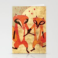 Foxes in love Stationery Cards