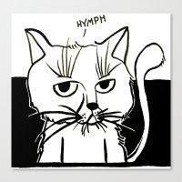 Annoyed Cat Canvas Print