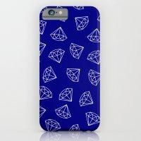 Navy Blue Diamond Pattern iPhone 6 Slim Case