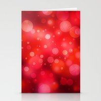 RED BUBBLE PATTERN Stationery Cards