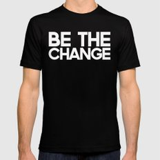 Be the Change SMALL Mens Fitted Tee Black