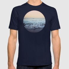 Crash into Me Mens Fitted Tee Navy SMALL