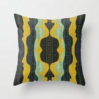Tribal Minty Throw Pillow