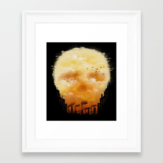Polluted Promises Framed Art Print