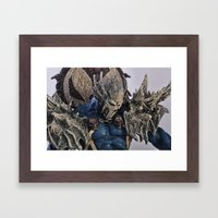 Blue Spawn Framed Art Print