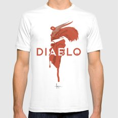 DIABLO409 Mens Fitted Tee SMALL White