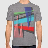 Ambient 19 White Mens Fitted Tee Tri-Grey SMALL