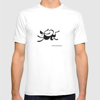 Dog 4 Mens Fitted Tee White SMALL