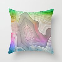 MINERAL RAINBOW Throw Pillow
