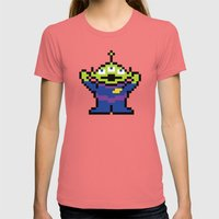 Pixel Story Womens Fitted Tee Pomegranate SMALL