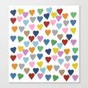 Hearts #3 Canvas Print