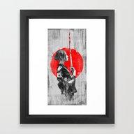 Framed Art Print featuring Samurai Girl by MUSENYO