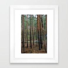 Forest & Car Framed Art Print