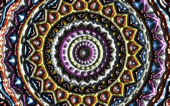 Mandala in relief Art Print