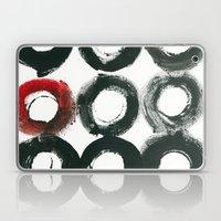 Black Circle Red Circle Laptop & iPad Skin