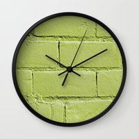 In The Light Lime Wall Clock