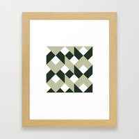 #213 Politics – Geometry Daily Framed Art Print