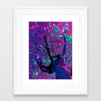 Climbing to the Stars Framed Art Print