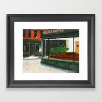 Grass Hopper Framed Art Print