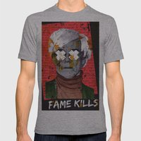 Fame Kills Mens Fitted Tee Athletic Grey SMALL