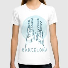 Barcelona 01 Womens Fitted Tee White SMALL