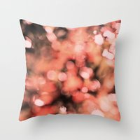 Bokeh Bubbly Throw Pillow
