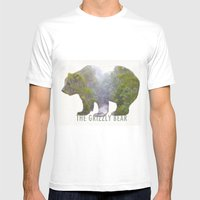 The Grizzly Bear Mens Fitted Tee White SMALL