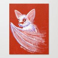 White Bat Canvas Print