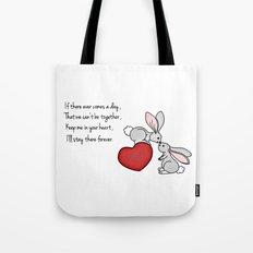 Snuggle Bunnies Tote Bag