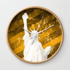 Liberty Gold Pop Art Wall Clock