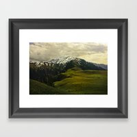 Spider Mountain Framed Art Print