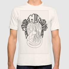 Monkey Mens Fitted Tee Natural SMALL