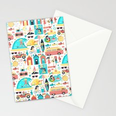 Surfer Girls Stationery Cards