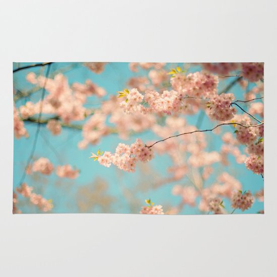 Dance of the Cherry Blossom Area & Throw Rug