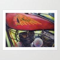 Indian Motorcycle  Art Print