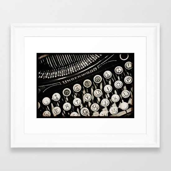 Underwood  typewriter  Framed Art Print