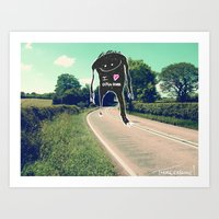 I love open roads Art Print