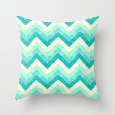 Chevron - Mint Throw Pillow