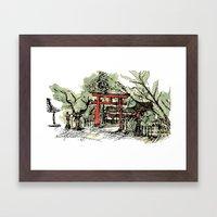 Yoshida Jinja Framed Art Print