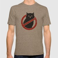 No Owls Mens Fitted Tee Tri-Coffee SMALL