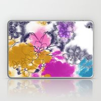 Abstract Flowers - Watercolour Paiting Laptop & iPad Skin