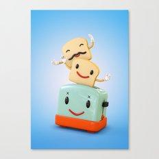 Happy Toaster Canvas Print