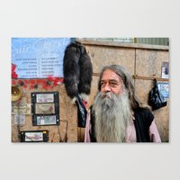 Old Currency Seller Canvas Print