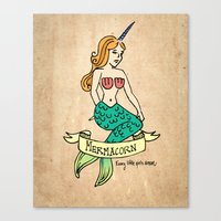 MERMACORN Canvas Print