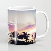 1980's sunset and quote Mug